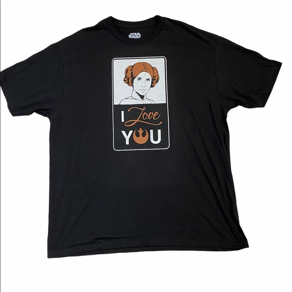 New Star Wars I Love You Princess Leia T-shirt XXL